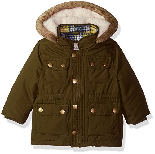 Carter's Baby Boys' Heavweight Parka Jacket Coat, Olive, 18 Months