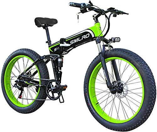 Electric Bike Electric Mountain Bike, Electric Mountain Bike, 26-inch Folding Electric Bicycle With Ultra-lightweight Magnesium Alloy Spokes Wheel, 21-speed Gear, Advanced Full Suspension for the jung