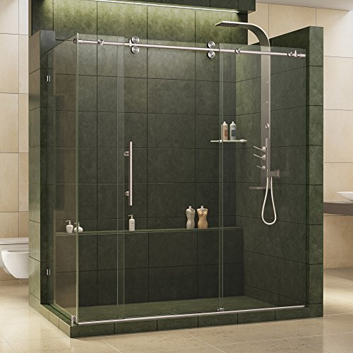 Cheapest Price! DreamLine Enigma 36 in. D x 68 1/2 - 72 1/2 in. W x 79 in. H Sliding Shower Enclosur...