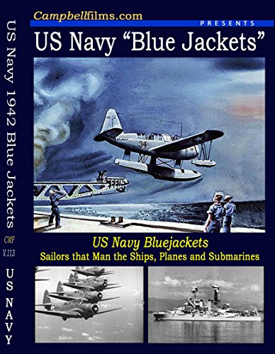 Navy Blue Jacket 1942 Old Films Ships Airplanes PBY Seaplane Subs DVD