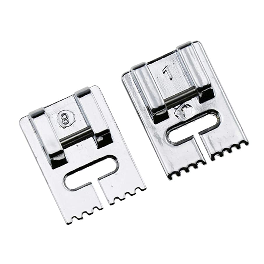 STORMSHOPPING Pintuck Groove Presser Foot Set Including a 9 Groove, 7 Groove fits All Low Shank Snap-On Brother, Babylock, Euro-Pro, Janome, Kenmore, White and More