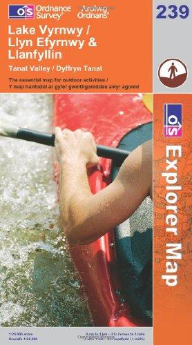 OS Explorer map 239 : Lake Vyrnwy & Llanfyllin / Llyn Efyrnwy (& Llanfyllin)