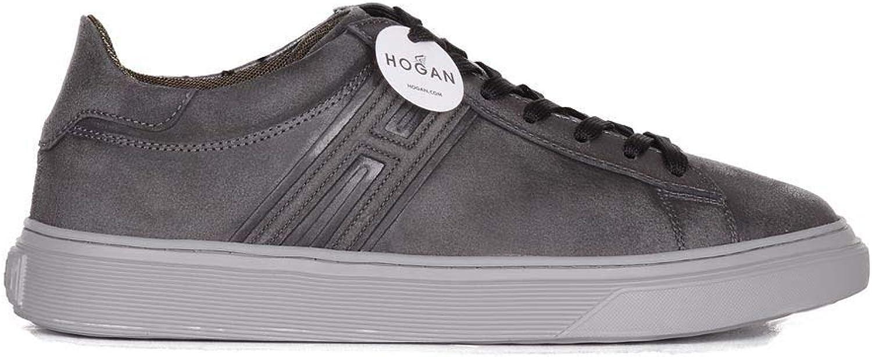 Hogan Herren HXM3650J310GZXB612 HXM3650J310GZXB612 Grau Leder Turnschuhe