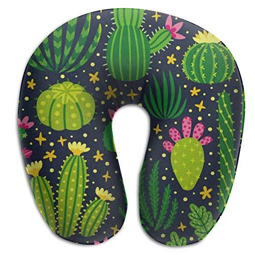 Nackenstützkissen aus Memory-Schaum, Kaktuspflanze, Sommer, leicht, Reisekissen für Ausflüge