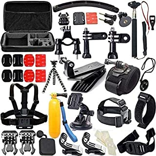 Mumoo Bear 60-In-1 Outdoor Sports Action Camera Accessories Kit for GoPro Hero4/3/2/1 Common Camcorder Bundles