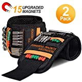 Tools For Men Magnetic Wristband, 15 Upgrade Super Strong...