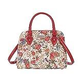 Signare tapiz mochila bandolera bolsos pequeños para mujer con diseños de V&A (prado de flores)