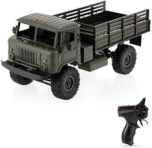 ZHWDD Coche Campo a 2,4 GHz de Control Remoto RC 1/16 Camión Militar de interconexión eléctrica País orugas vehículo de Escalada con luz LED RTR RC Car Toys for Children cumpleaños hefeide