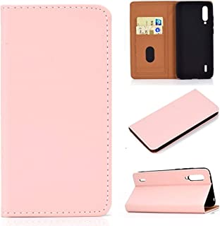 For Xiaomi Mi CC9 Solid Color Magnetic Horizontal Flip Leather Case with Card Slot & Holder New (Black) Lipangp (Color : Pink)