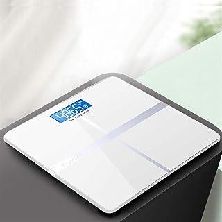 Báscula Bluetooth Profesional Báscula de Grasa Corporal Piso Antideslizante Ciencia de baño Retroiluminación electrónica Inteligente Báscula de Peso Digital Durable (Color: 02 Gold)