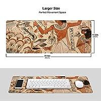 エジプトの生活 壁画 マウスパッド キーボードパッド 滑らかマウスパッド ゲーミングパッド 大型 オフィス 家庭用