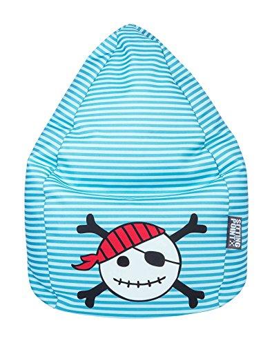 lifestyle4living Sitzsack für Kinder, Piraten Totenkopf Motiv, Polyester Bezug | Pflegeleichtes und bequemes Sitzsackkissen, Beanbag Pirat XL 220l
