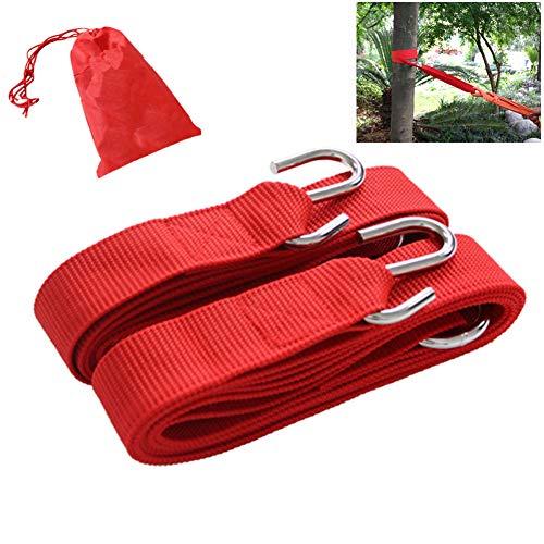 9 Feet Heavy Outdoors Adjustable Hammock Tree Straps, S-Hooks and O-Rings, Sturdy Durable Wear Resistant, for Garden Tree Swing Hammock Swing Straps