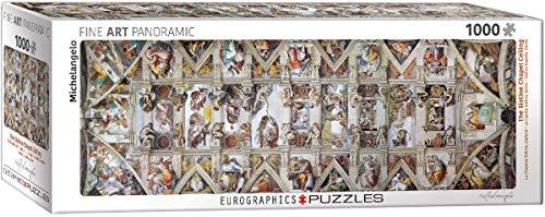 Eurographics 1000 Teile Panorama - Decke der Sixtinischen Kapelle