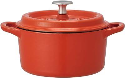 スケーター 両手鍋 ミニ ココット 16cm 鉄鍋 オーブン料理鍋 オレンジ 1.48L INCT15