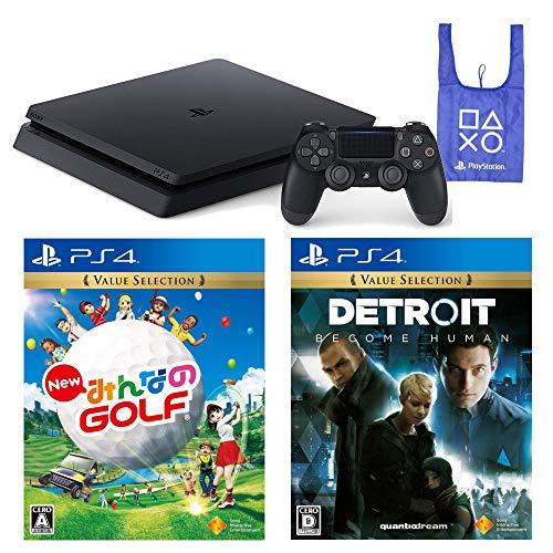 PlayStation 4 New みんなのGOLF Detroit: Become Human オリジナルデザインエコバッグ セット (ジェット・ブラック) (CUH-2200AB01)