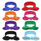 DRESHOW - Paquete de 8 diademas para el pelo, accesorios de cabello para mujer -  Multi color -  talla única