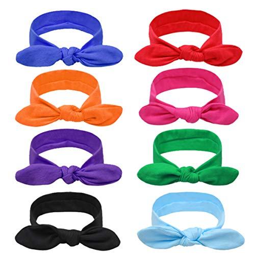DRESHOW 8 PCS Stirnband Damen Blumen Haarband damen Haarreifen damen Headwrap Turban-Kopf-Verpackungs Haarschmuck,