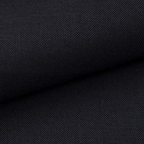Teker Torino Polsterstoff Möbelstoff Meterware - z.B. Stoff für Stühle oder Eckbank Bezug - Schwarz