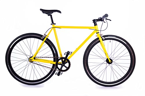 BOX39 Bici Single Speed/Fixed, Scatto Fisso, Gialla, La Pura