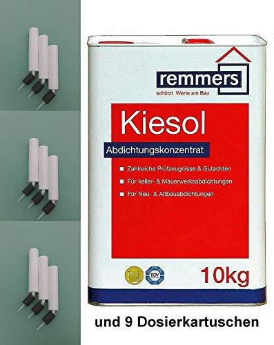 10 Kg Remmers Kiesol 1K, Standard inkl. 9 Stück Dosierkartuschen
