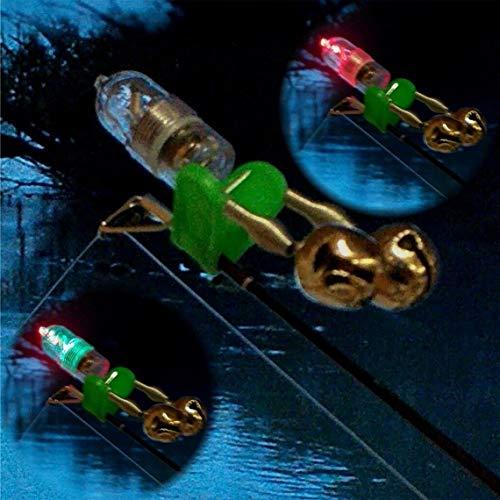 GP-Angelgeräte Double- Aal Glocken - Elektronische Bissanzeiger Light Alarm mit Bewegungssensor