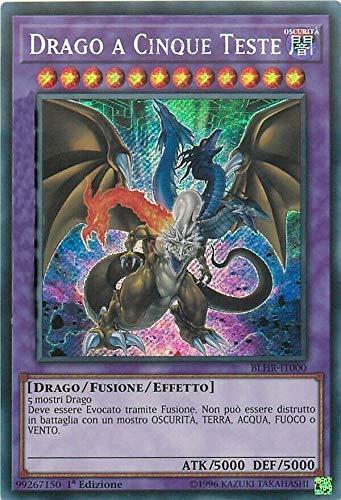 Yu-Gi-Oh - Drago a Cinque Teste - Rara Segreta - Nuova Illustrazione - BLHR-IT000 Italiano
