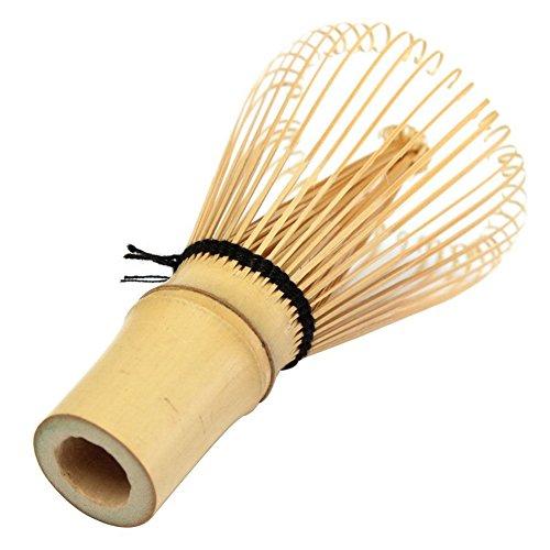 Toruiwa Matcha Besen Matcha Schneebesen Bambus Chasen Matcha Pulver Quirl Werkzeug100 Borsten Japanische Teezeremonie Zubehör (Hellbraun)