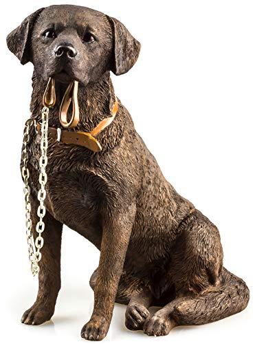 The Leonardo Collection - Adorno para perro labrador de color marrón chocolate