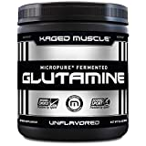 KAGED MUSCLE, L-Glutamine Powder 300 Gram, Vegan, Support Muscle...