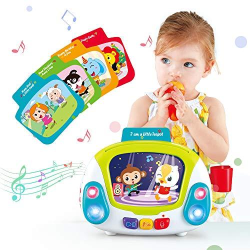 VATOS Juguetes de Karaoke Juguetes Musicales para Niños, Reproductor de Música de Karaoke con Grabación de Canto & Cambio de Voz Función Aprendizaje Educativo Juguete Einstein para Bebés d