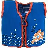 konfidence the original giubbotto galleggiante per bambini, ragazzi, original, scoot the clownfish, 18 months-3 years
