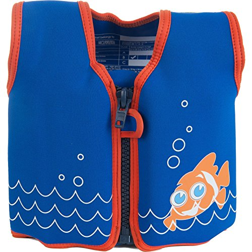 Die original Konfidence Unisex-Kinder Schwimmweste,  Mehrfarbig (Scoot the Clownfish), 18 monate-36 Monate