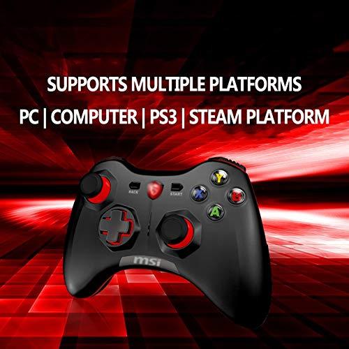 Dual Mode Multi Compatible Manette sans Fil Gamepad for PS3/PC Précis Positionnement E-Sport Joystick Double Vibration Ergonomique Noir Contrôleur de Jeu - Élastique Force Trigger Key