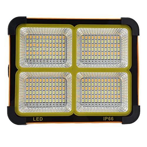 Luz de inundación solar de 5000 lm, luz de trabajo solar de varios métodos de carga de alto brillo de 5000 lm para iluminación exterior