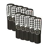 10-pack Brightstar BR100B Universal TV Remote