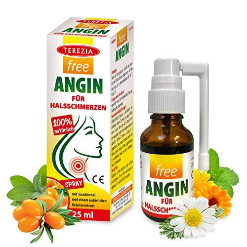 FREEANGIN SPRAY FÜR HALSSCHMERZEN mit Sanddornöl und einem natürlichen Kräuterextrakt, 100% natürlich, 25 ml, medizinisches Gerät