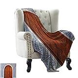 Fuzzy Decke, marokkanisch, antikes Holztür der...