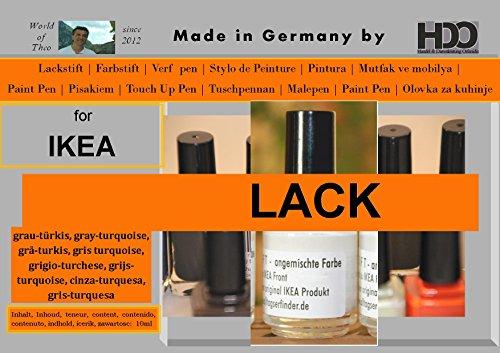 HDO kleurstift lakstift touch-up pen voor Ikea lak grijs-turqoise