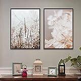 FUMOJI Lienzo con plantas y flores, imágenes naturales, paisajes, citas, póster artístico, decoración de pared, sin marco (50 x 70 cm x 2 cm)