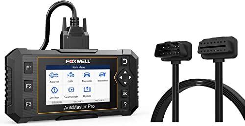 wholesale FOXWELL NT644 Elite OBD2 Scanner, Full System Code Reader with 19 Service Reset and OBD2 OBD II Flat Ribbon popular 16Pin Male to Female Diagnostic wholesale Extension Convert Cable for Bluetooth WiFi outlet online sale