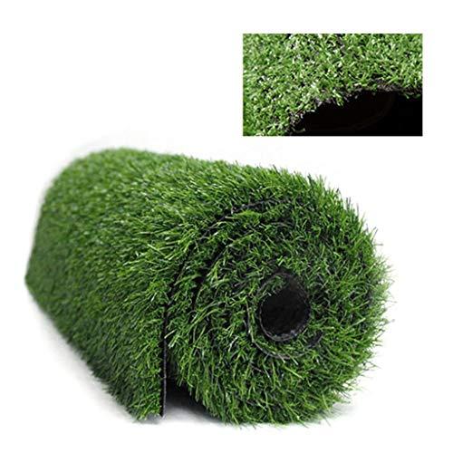 WuLi77 - Tappetino per animali domestici, spessore 1 cm, erba artificiale, tappeto erboso per cani, tappeto da addestramento in erba sintetica, per interni ed esterni, giardino, paesaggio