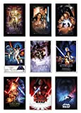 POSTER STOP ONLINE Star Wars Episode I, II, III, IV, V, VI, VII, VIII & IX - Movie Poster Set (9 Individual Full Size Movie Posters - Version 1) (Size 24 x 36' Each)