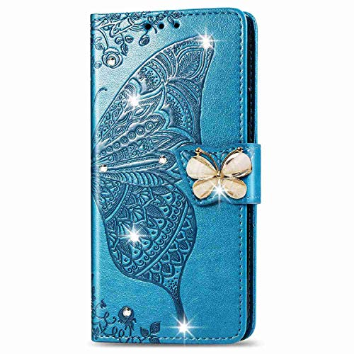 Skhawen iPhone 11 Case Flip Shockproof PU Leather Embossed Owl Wallet Magnetic Cover for iPhone 11 with Card Holder Viewing Stand Light Purple