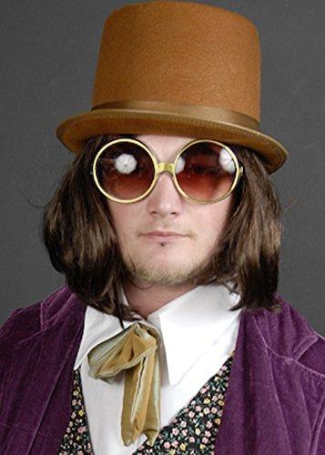 Willy Wonka Style Runde Gold Brille