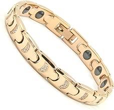 Rakii germanium bracelet stainless hematite pink gold Ladies R10