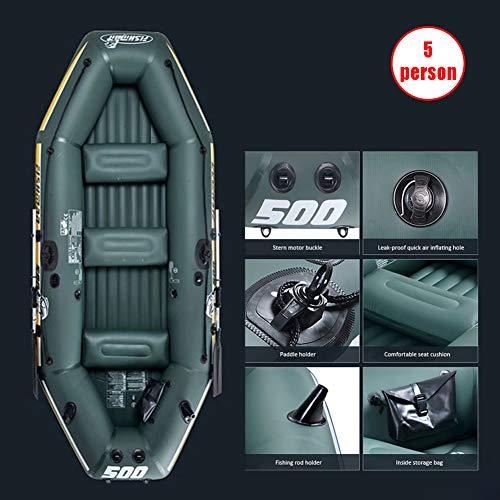 FTSCAY Schlauchboot, Pro Kayak, 5-Personen-Schlauchboot-Set mit Aluminium-Rudern und Hochleistungsluftpumpe, 10,67 Fuß Schlauchboot-Heckspiegel-Sporttender (neuestes Modell)