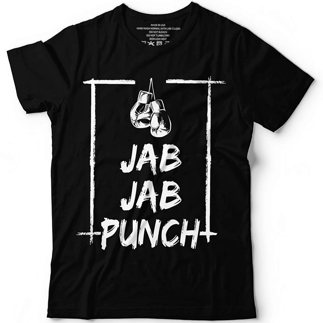 Jab Jab Boxing Punch Fighter Men's Boxer Quotes Boxing Gloves Gifts Customized Handmade Hoodie/Sweater/Long Sleeve/Tank Top/Premium T-shirt