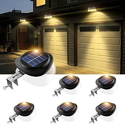Solar Gutter Lights, Newest 9 LED Outdoor Fence...