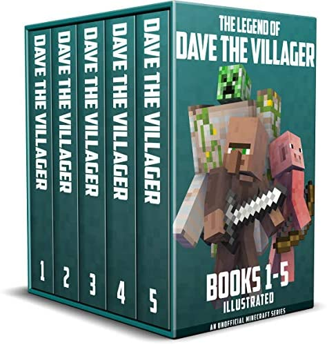 The Legend of Dave the Villager Books 1 5 Illustrated a collection of unofficial Minecraft books product image